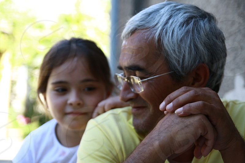 father and daughter closeness child adult man parenthood photo