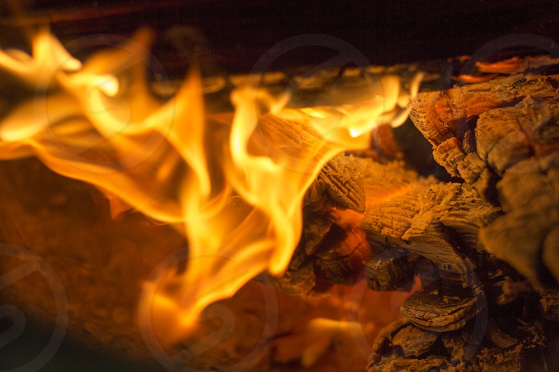 fire in a stove photo