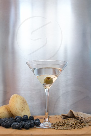 vodka martini drink industrial photo