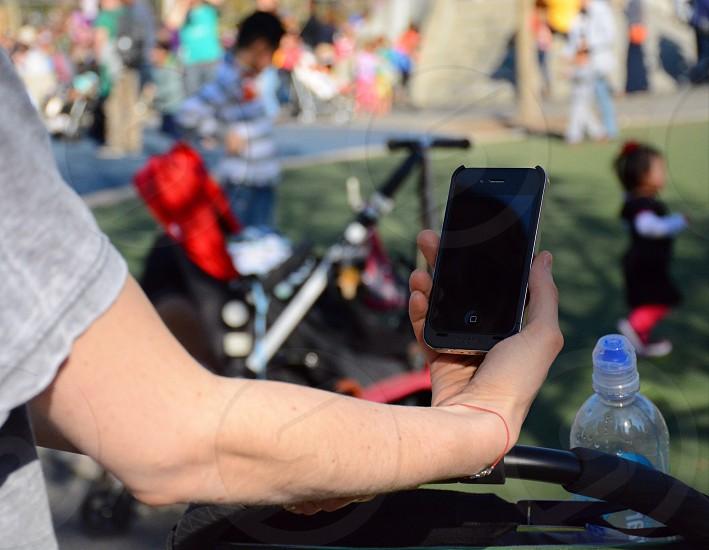man holding phone  photo