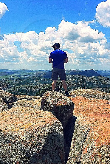 My reason to travel? To find views like this in the great state of Oklahoma. Mt Scott Wichita Mountains Oklahoma photo