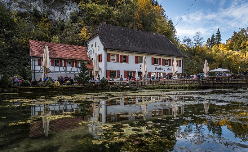 Around the Wimsener cave in south germany photo