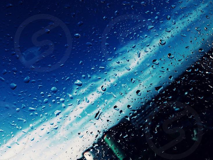 Blue rain photo
