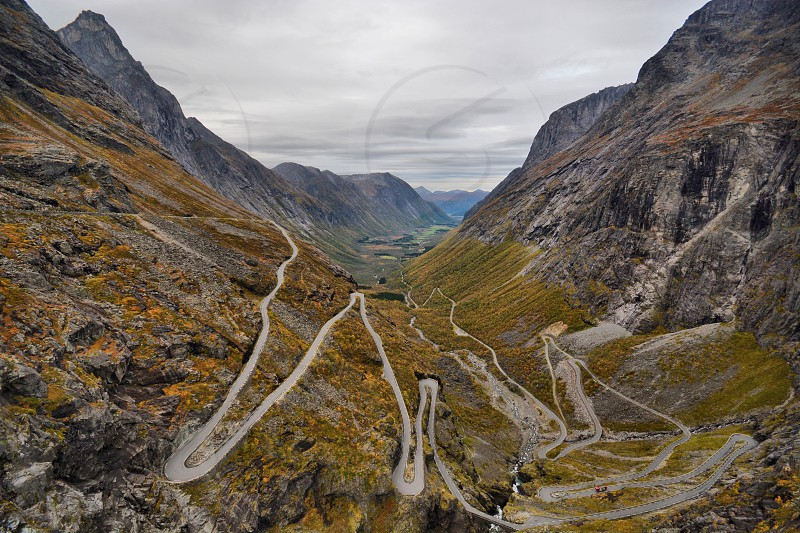 Trollstigen mountain road Norway photo