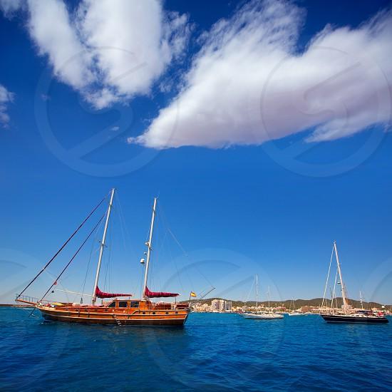 Ibiza San Antonio Abad Sant Antoni de Portmany sailboats in Balearic Islands photo