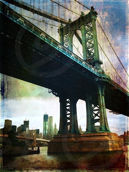 The Manhattan Bridge seen from the Brooklyn side photo