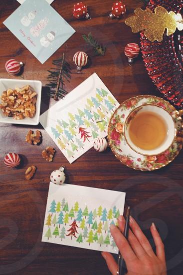 Writing Christmas Cards! photo