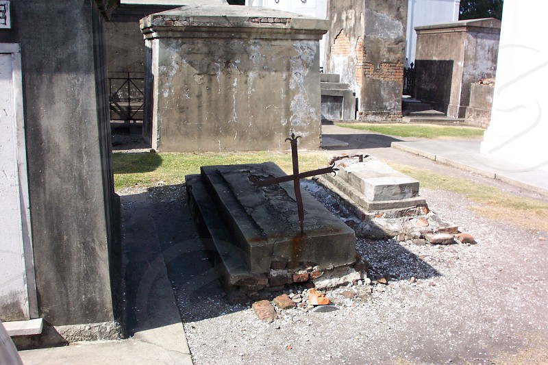 Early Step Tomb St. Louis Cemetery #1 New Orleans LA photo