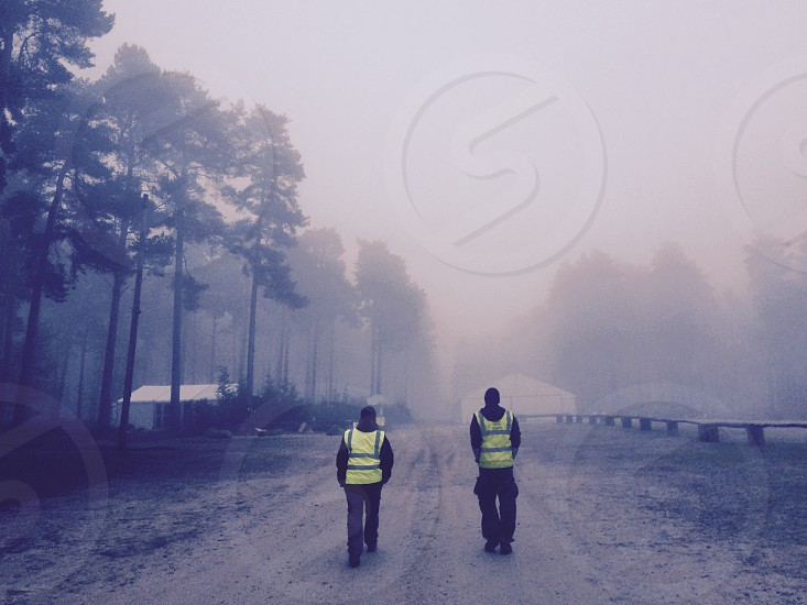 Morning fog walk photo