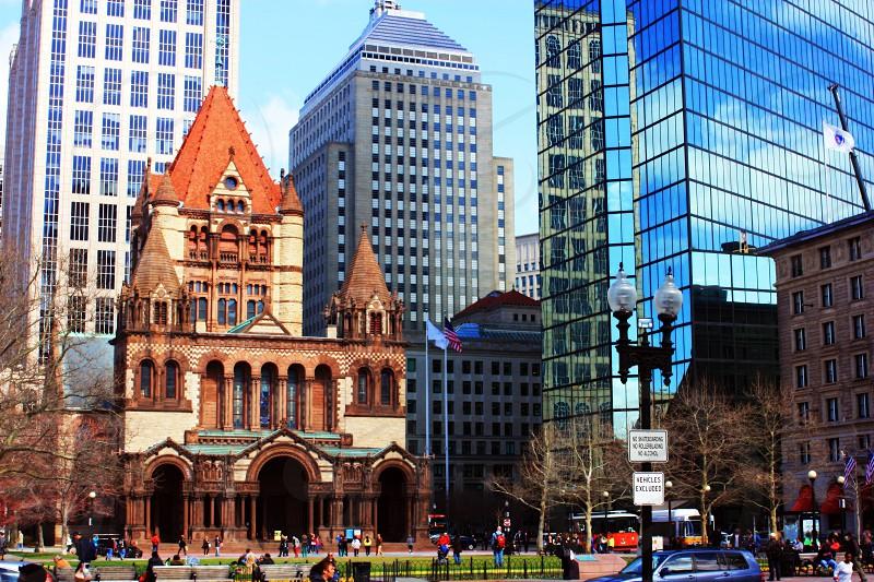 Trinity Church Boston 1870's architecture history photo