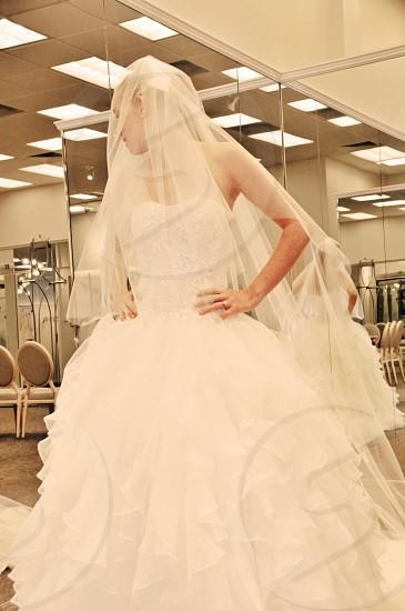 wedding dress shopping  photo