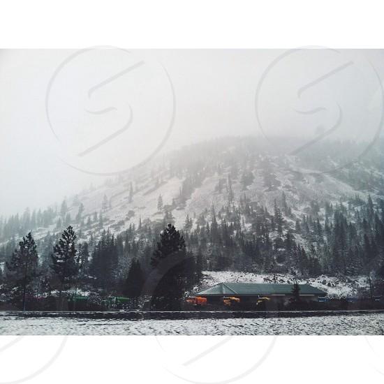 snow covered mountain photo