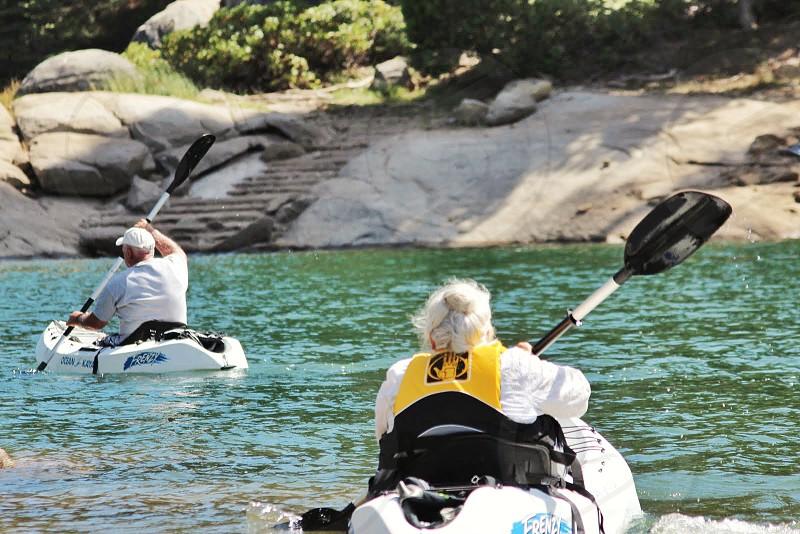 Kayaking kayak elders lake time photo