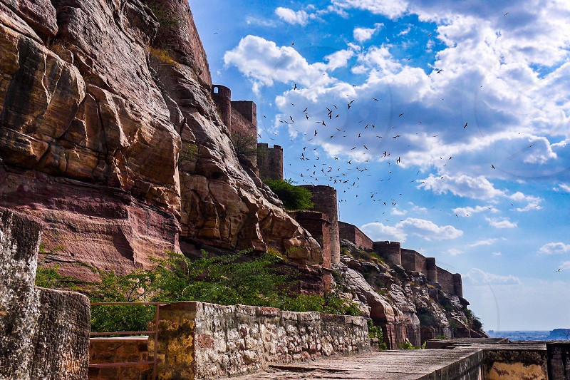 Fort building architecture history India historic structures defence photo
