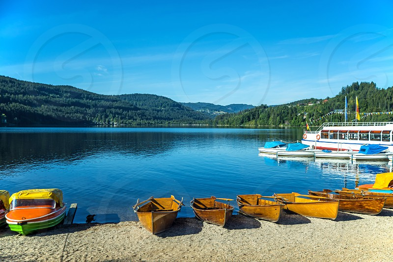 Lake Tititsee In The Black Forest In Germany Port Of Titisee Neustadt By Jochen Schneider Photo Stock Snapwire