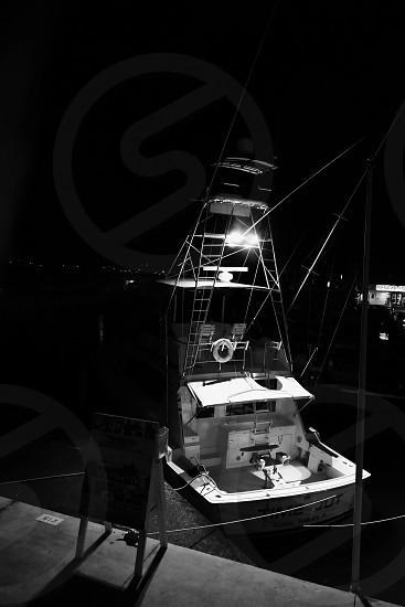 Docked at Midnight; Miami FL photo