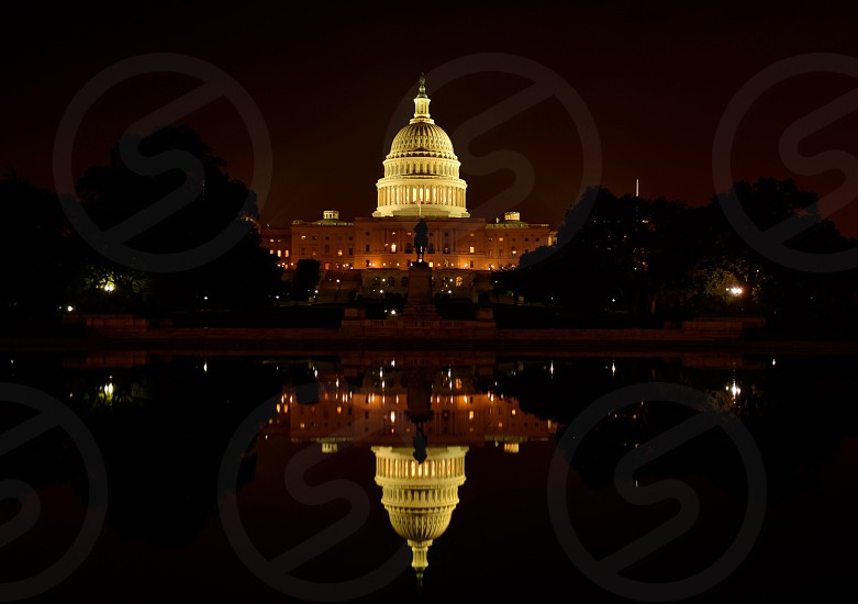 The US capitol during the government shutdown. photo
