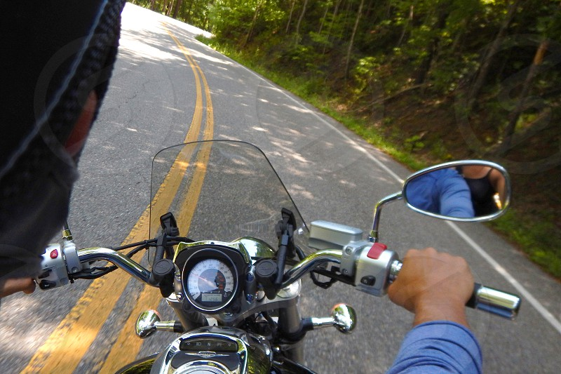 Motorcycle ride through the Tail of the Dragon in Tennessee photo