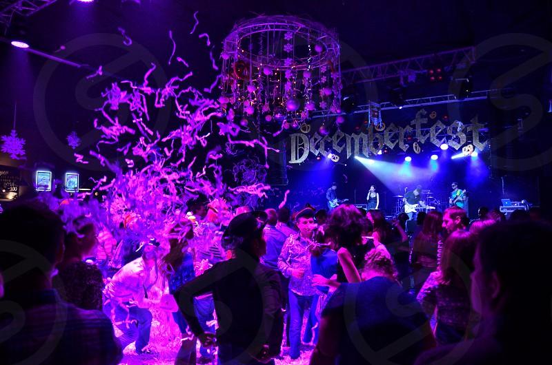 People dancing inside club photo