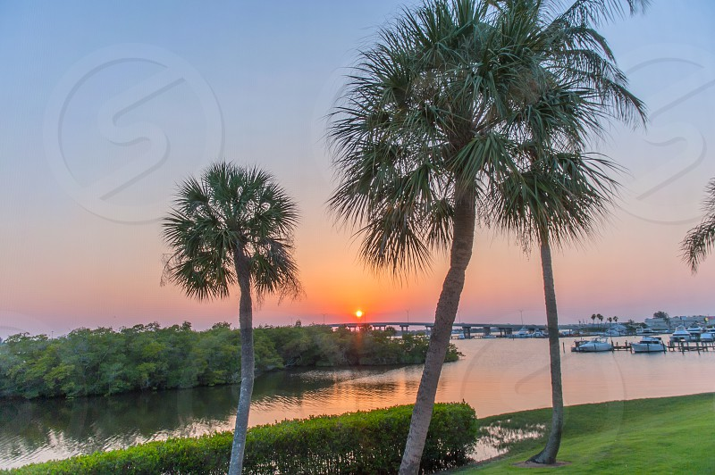 Sunset view of Florida photo