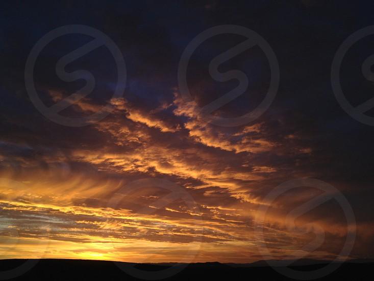 sunset scene photo