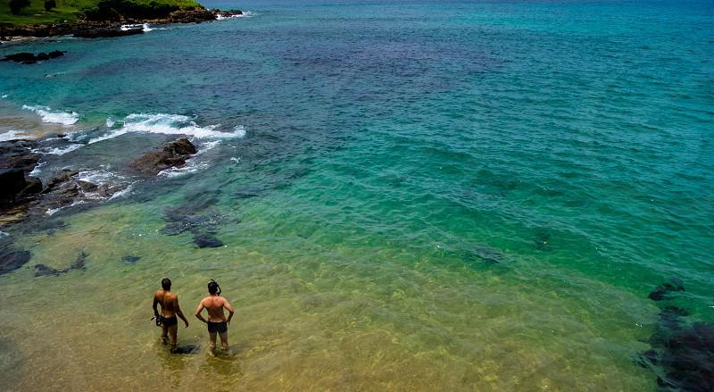 Summer morning ar Porto da Barra Beach photo