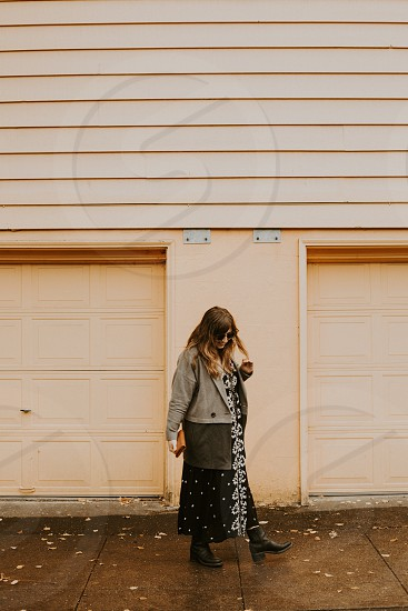I love mixing boho style with classic pieces. Especially dresses and coats.  photo