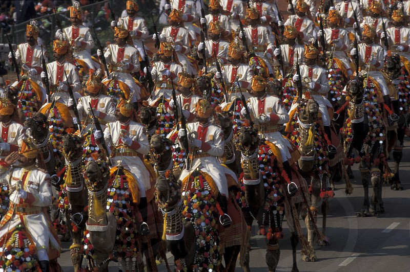 the parade at the national day in the City of New Delhi in India. photo