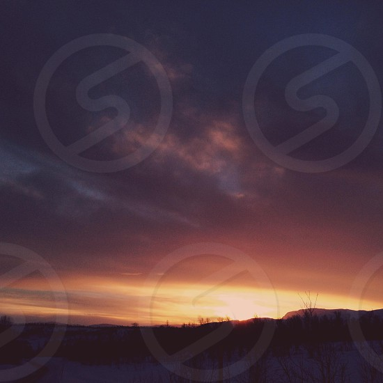 Nature sky sunset colour sun evening photo