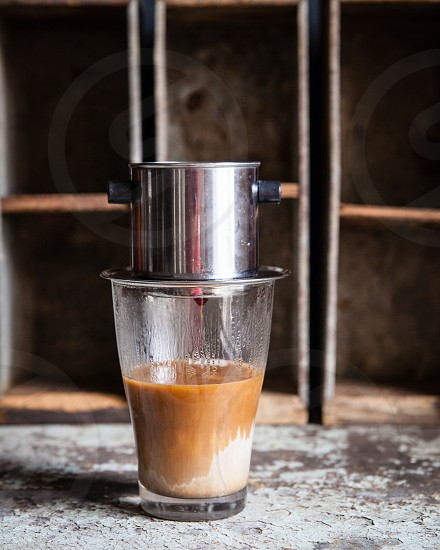 Vietnamese iced coffee maker photo