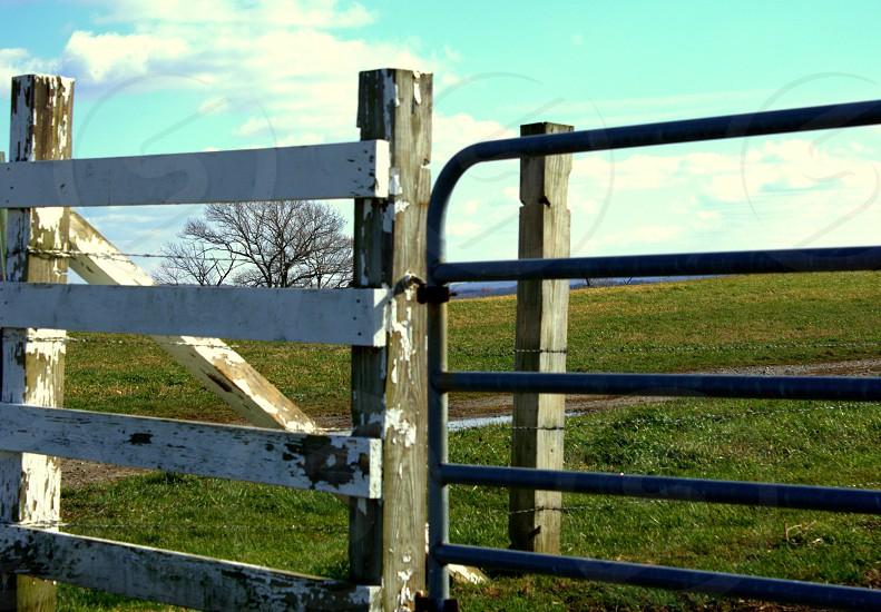 pasture fence gates photo