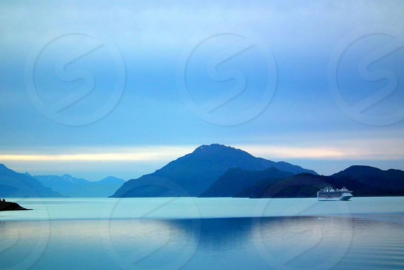 Alaska calm water cruise cruise ship shippastelsunset photo