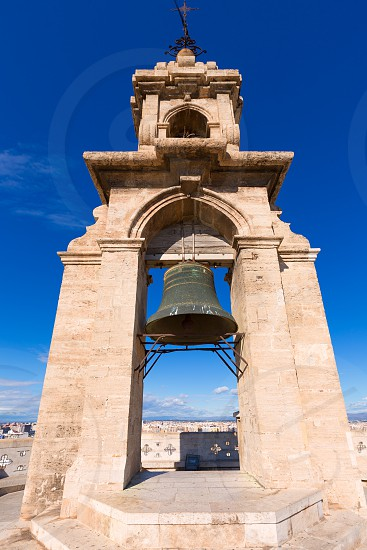 Valencia Miguelete belfry tower Micalet de la Seo in Cathedral at Spain photo
