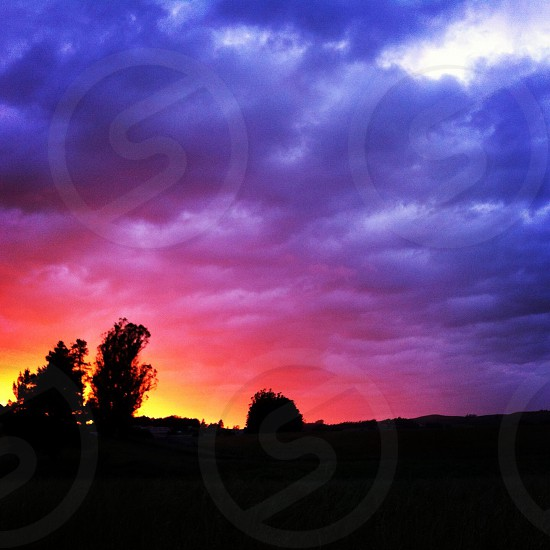 Northern California sunset Petaluma CA 2013 photo