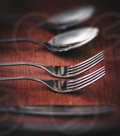 Eating utensils fork photo