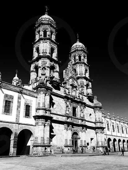 Guadalajara Mexico is known for their amazing churches as seen here is the Basílica de Nuestra Señora de Zapopan.  photo