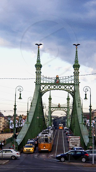 Budapest reason to travel bridge traffic travel roads holidays point of view photo