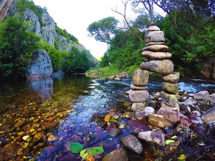 Mountain Summer River  photo