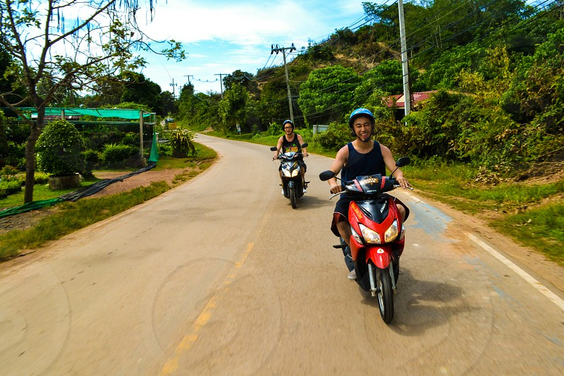 Riding around Koh Lanta Thailand photo