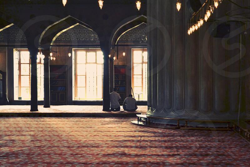 mosque men praying photo