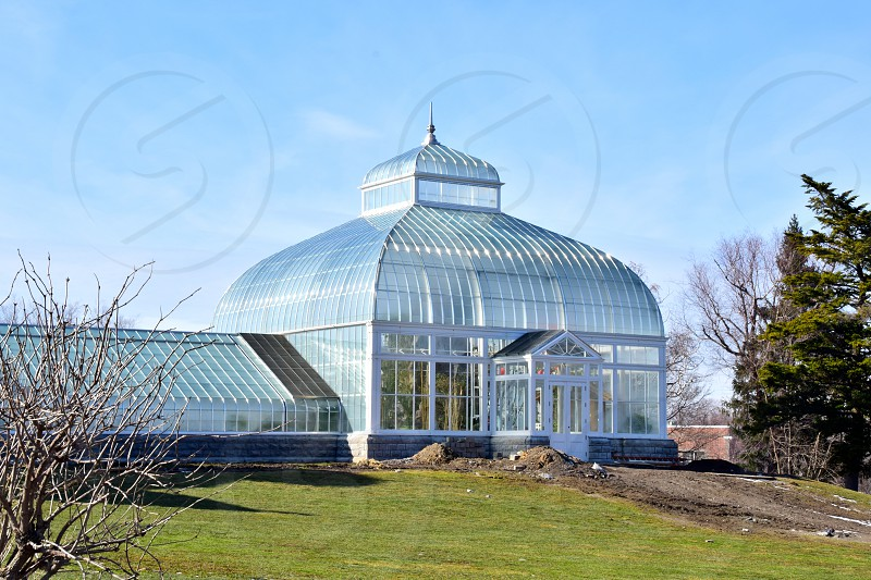 Buffalo and Erie County Botanical Gardens. Designed by landscape architect Frederick Law Olmsted in the 1860's. photo