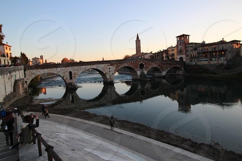 ponte di pietra a Verona photo