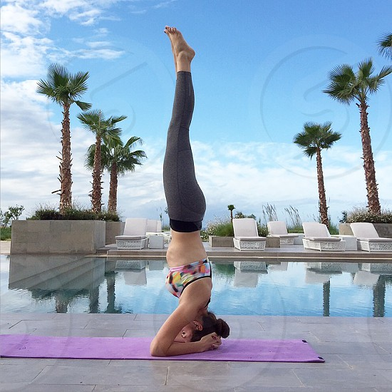 Yoga workout morning healthy fit photo
