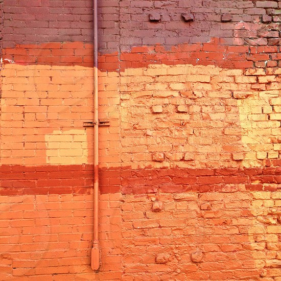 brown bricks with paint photo