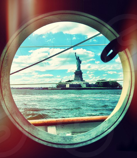 NYC New York USA sailing Statue of Liberty freedom  photo