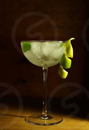 Mojito coupe glass. photo