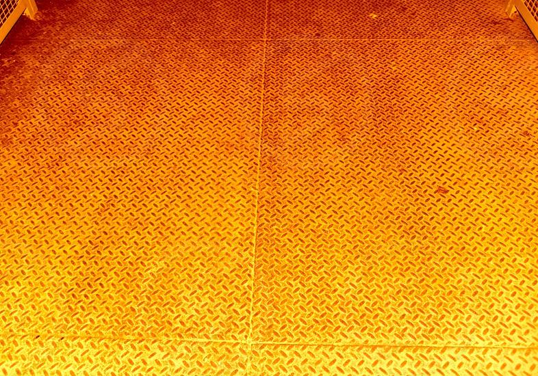 Orange floor safety steel hazard construction metal caution photo