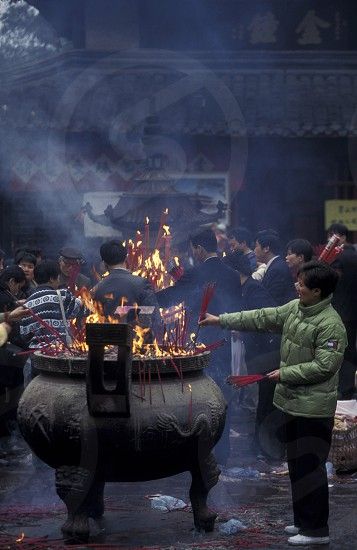a traditional chinese Temple in the city of Chengdu in the provinz Sichuan in centrall China. photo