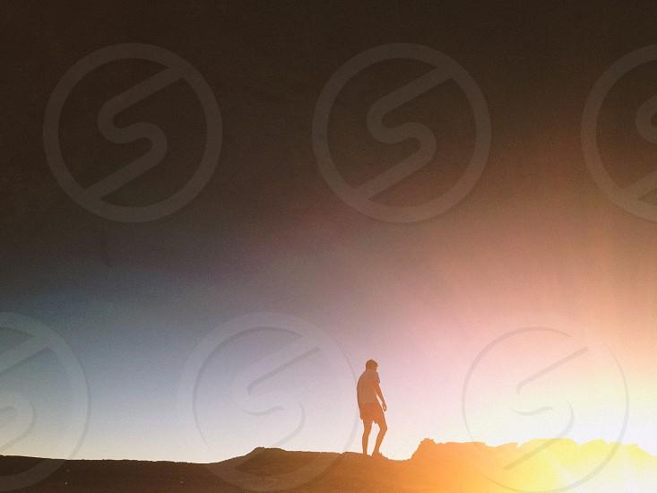 orange sunset photo