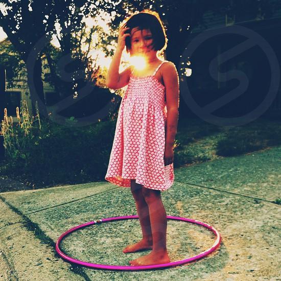 pink hoola hoop  photo
